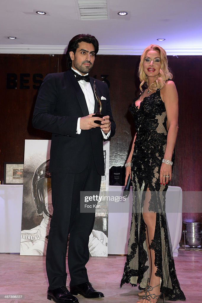 Prince Salman al Saud and Valeria Marini attend the 'The Best 2013' Ceremony Awards 37th Edition at the Salons Hoche on December 16, 2013 in Paris, France.