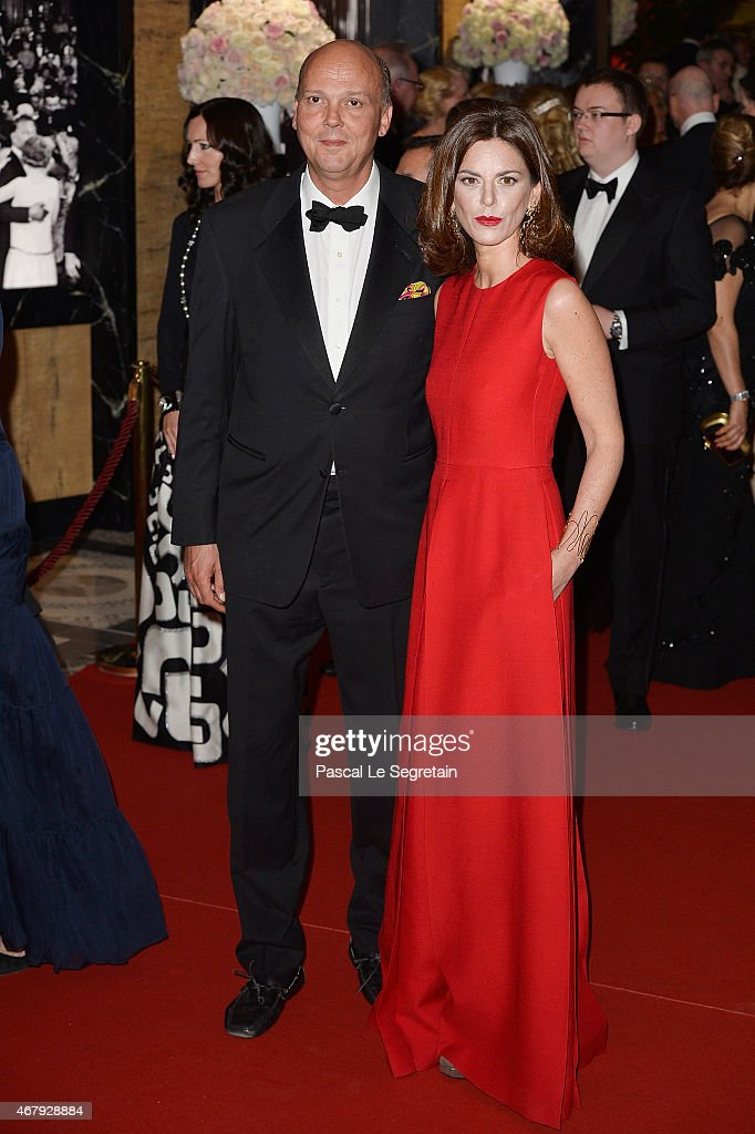 Prince Serge of Yugoslavia and Eleonora Rajneri attend the Rose Ball 2015 in aid of the Princess Grace Foundation at Sporting MonteCarlo on March 28...