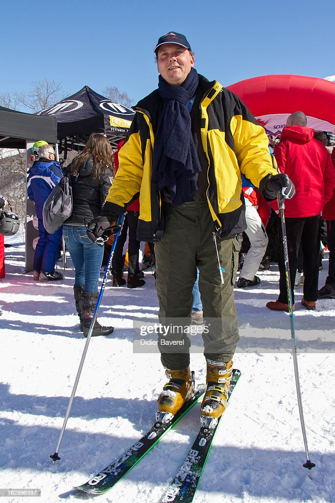 Prince Serge of Yugoslavia attends the Biatlhon Charity Ski Race To Collect Donations For 'Star Team For The Children MC' on March 2, 2013 in Limone, Italy.