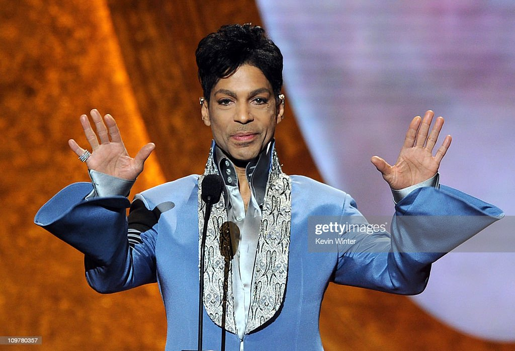 Prince speaks onstage at the 42nd NAACP Image Awards held at The Shrine Auditorium on March 4 2011 in Los Angeles California