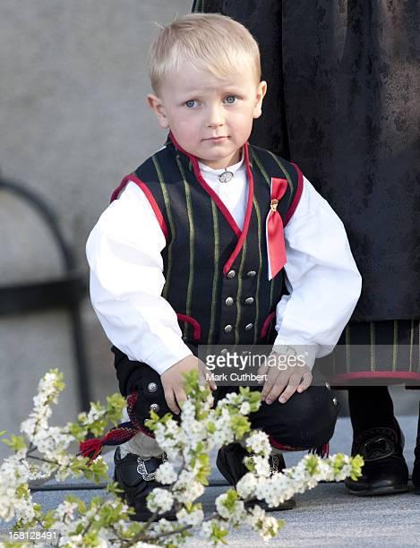 Prince Sverre Magnus At Skaugum Palace To Celebrate Norway National Day