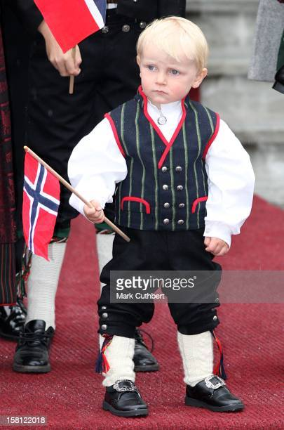 Prince Sverre Magnus Attends The Norway National Day Celebrations In Skaugum