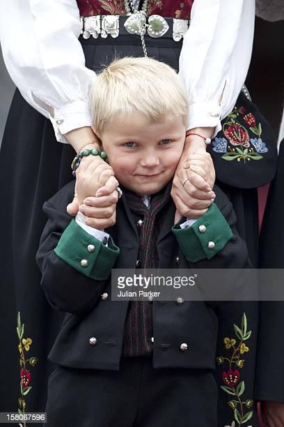 Prince Sverre Magnus Of Norway Celebrates Norway National Day At Skaugum In Asker Norway