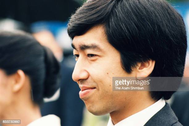 Prince Takamado attends the Spring Garden Party at the Akasaka Imperial Garden on May 11 1994 in Tokyo Japan