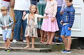 Prince Vincent of Denmark Princess Isabella of Denmark and Prince Christian of Denmark play during the annual summer photo call for The Danish Royal...