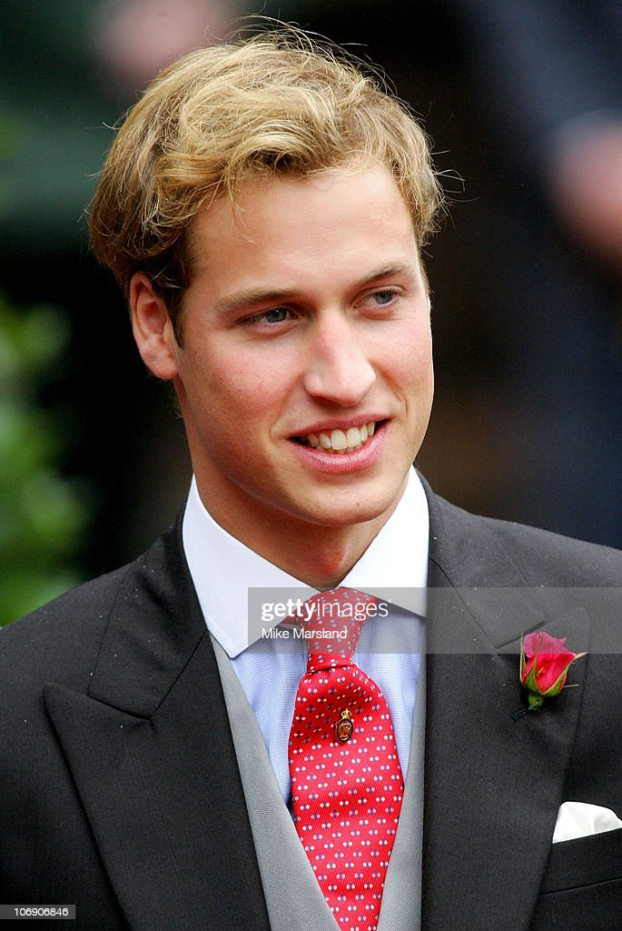 Prince Willaim at the wedding of Lady Tamara, the eldest daughter of The Duke and Duchess of Westminster, and Edward van Cutsem at Chester Cathedral on Saturday November 6, 2004