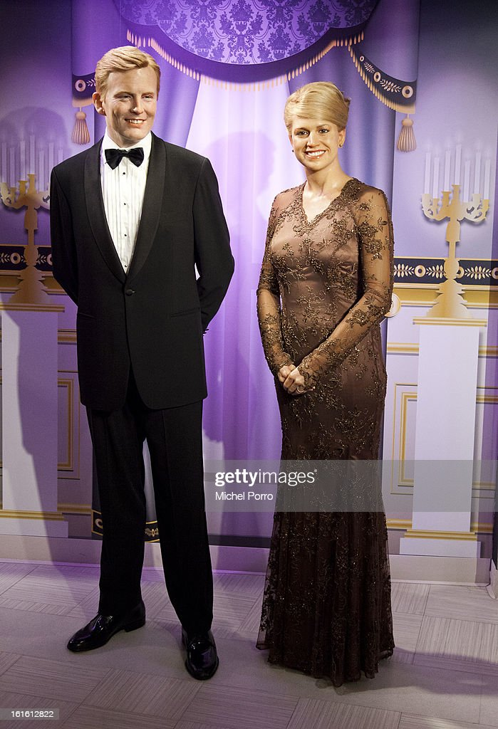 . Prince Willem Alexander and Princess Maxima of The Netherlands are popular personalities at Madame Tussauds as the nation looks forward to the 30 April 2013 coronation on February 13, 2013 in Amsterdam, Netherlands.