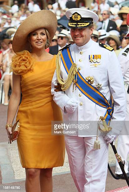 Prince Willem Alexander Of Netherlands And Princess Maxima Of Netherlands Arriving At The Royal Palace In Monaco For The Wedding Of Hsh Prince Albert...