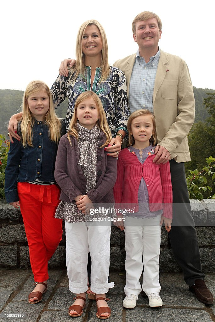 Prince Willem Alexander of Netherlands and Princess Maxima of Netherlands pose with their daughters Princess Catharina-Amalia of Netherlands, Princess Alexia of Netherlands and Princess Ariane of Netherlands pose as the Dutch Royal family celebrate Christmas on December 23, 2012 in Villa la Angostura, Argentina.