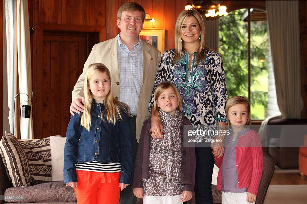 Prince Willem Alexander of Netherlands and Princess Maxima of Netherlands pose with their daughters Princess Alexia of Netherlands, Princess Catharina-Amalia of Netherlands and Princess Ariane of Netherlands pose as the Dutch Royal family celebrate Christmas on December 23, 2012 in Villa la Angostura, Argentina.