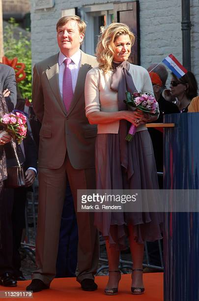Prince Willem Alexander of The Netherlands and Princess Maxima of The Netherlands celebrate Queens Day on April 30 2011 in Thorn Netherlands