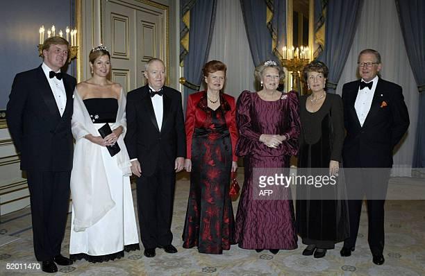 Prince WillemAlexander Princess Maxima Imant Freiberg President of Latvia Vaira VikeFreiberga Queen Beatrix Princess Margriet and her husband Pieter...