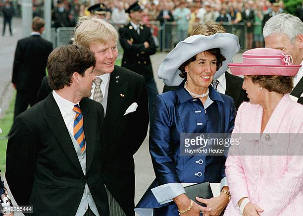 X Prince WillemAlexanderJosee Van Den Broek bride's mother Princess Margriet