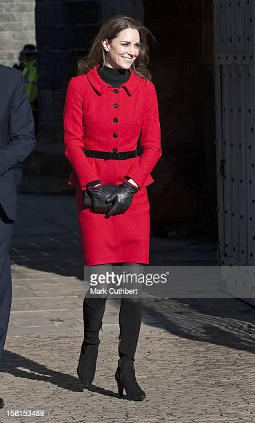Prince William Accompanied By Miss Catherine Middleton Visit The University Of St Andrews Fife As Patron Of The 600Th Anniversary Appeal