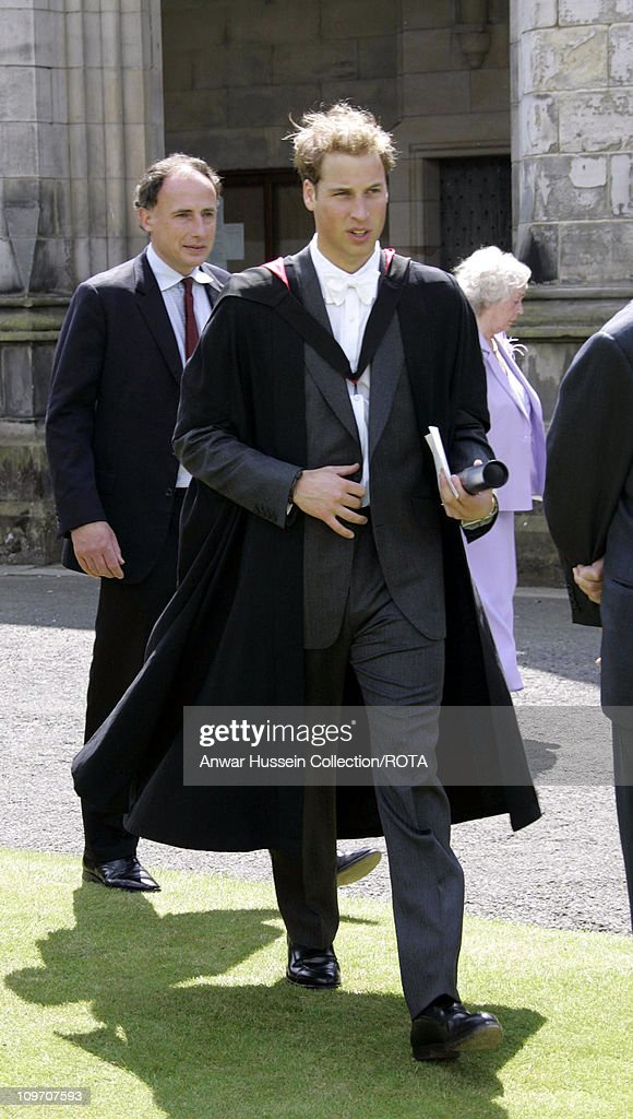 Prince William after his graduation ceremony at St Andrews Thursday June 23 2005 William got a 21 in geography after four years studying for his...