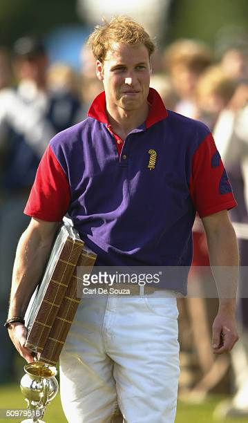 Prince William after playing for Highgrove team against Graff Capital in the Calcot Manor Hotel cup at Beaufort Polo Club Gloucestershire on June 20...
