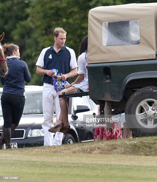 Prince William After The Chakravarty Cup Polo Match At Beaufort Polo Club Near Tetbury Gloucestershire