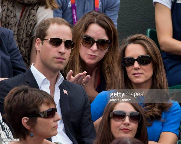 Prince William and Catherine Duchess of Cambridge with Rebecca Deacon as Prince William and Catherine Duchess of Cambridge attend the Tennis at...