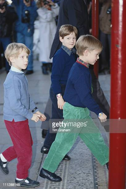 Prince William and his friends arrive at the Richmond Theatre in London for a performance of 'Stig' 16th February 1989