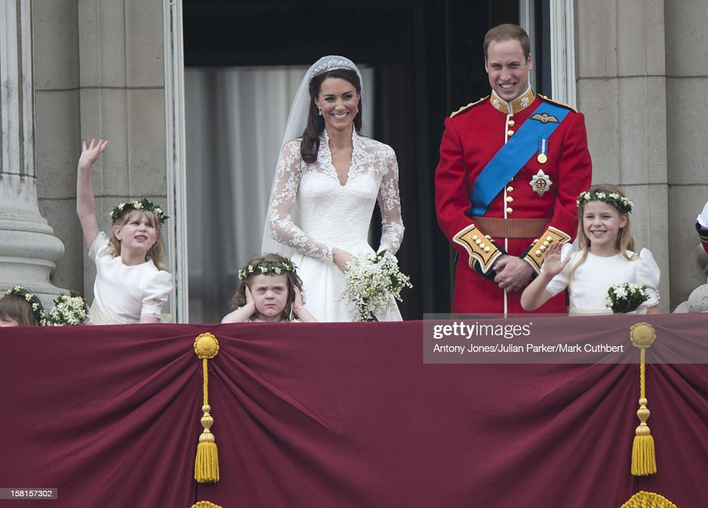 Prince William himself, along with Catherine, Duchess of Cambridge, chose his cousin Lady Louise Windsor as a bridesmaid for their wedding. She can be seen here on the left, waving enthusiastically. Photo: UK Press