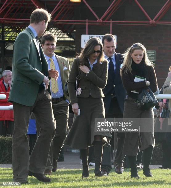Prince William and Kate Middleton are seen near the winners enclosure at Cheltenham Racecourse on the first day of the Cheltenham Festival