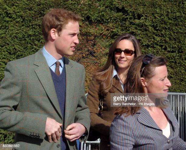 Prince William and Kate Middleton arrive for the first day of the Cheltenham Festival