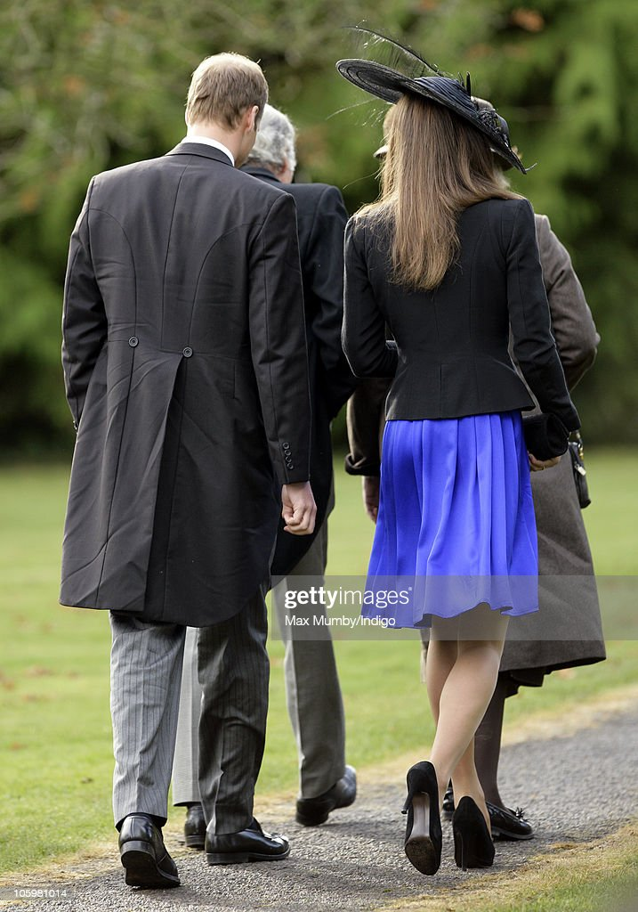 Prince William and Kate Middleton attend Harry Meade & Rosie Bradford's wedding at the Church of St. Peter and St. Paul, Northleach, on October 23, 2010 in Cheltenham, England.