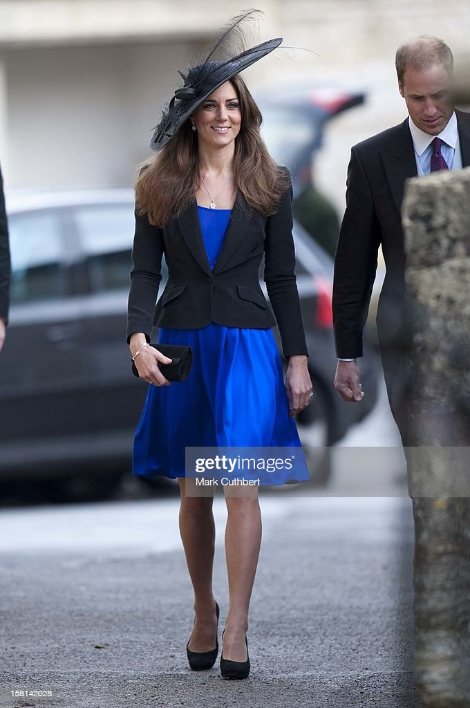 Prince William And Kate Middleton Attend The Wedding Of Harry Meade At St Peter And St Paul Church In Northleach, Gloucs.