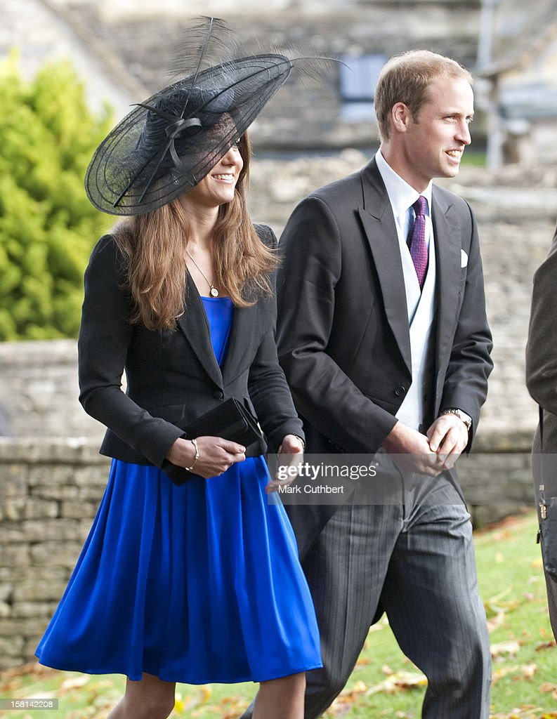 Prince William And Kate Middleton Attend The Wedding Of Their Friends Harry Mead And Rosie Bradford In The Village Of Northleach Gloucestershire