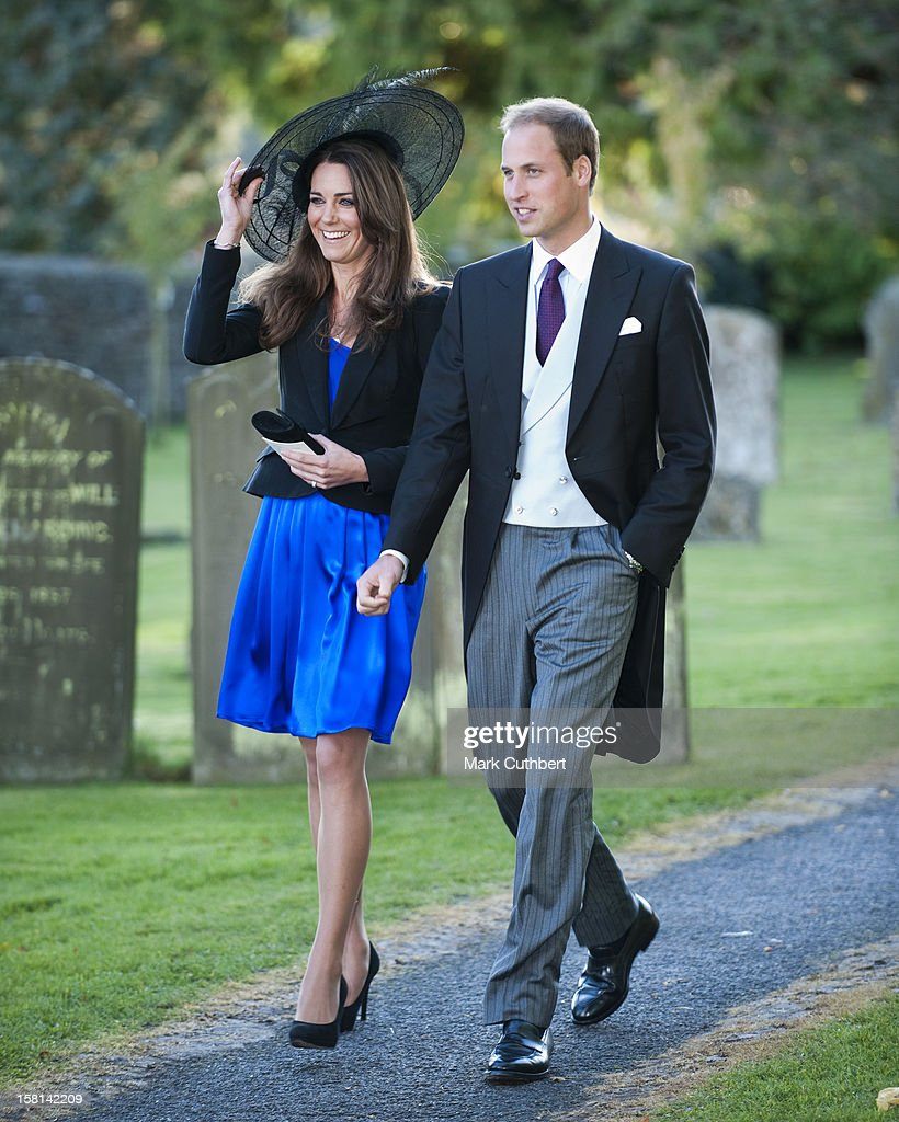 Prince William And Kate Middleton Attend The Wedding Of Their Friends Harry Mead And Rosie Bradford In The Village Of Northleach, Gloucestershire.