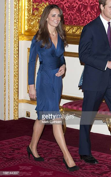Prince William And Kate Middleton During A Photocall In The State Apartments Of St James'S Palace London To Mark Their Engagement