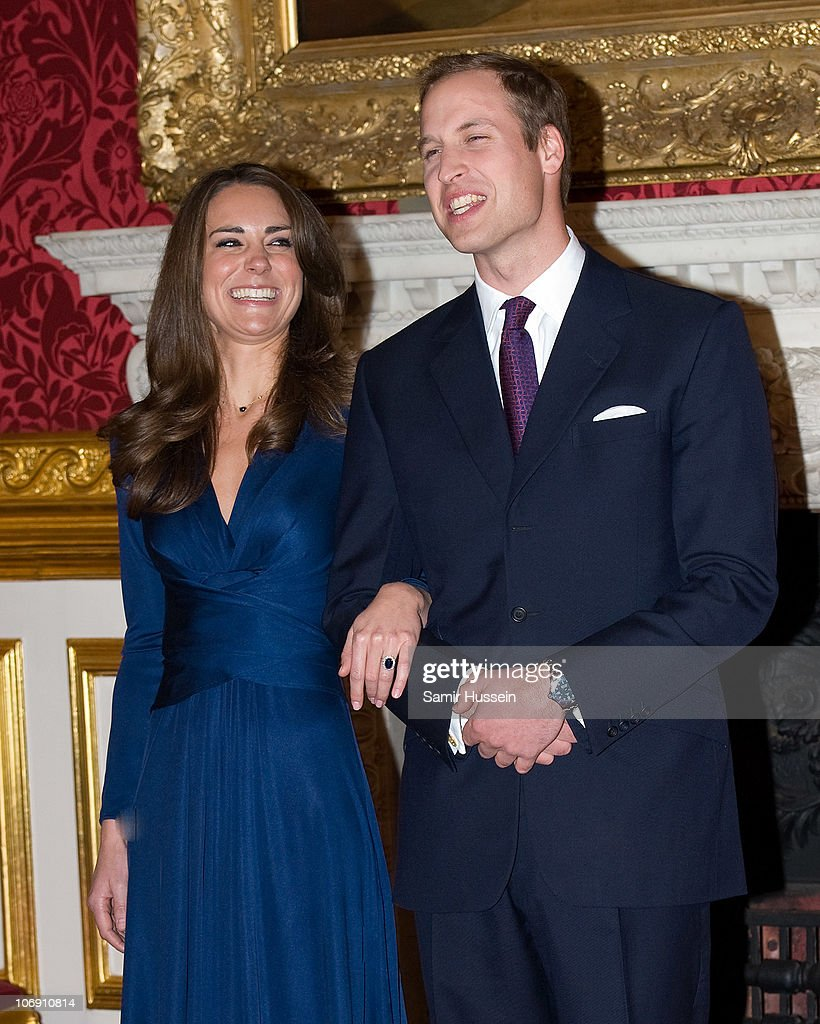 Prince William and Kate Middleton officially announce their engagement at St James's Palace on November 16, 2010 in London, England. After much speculation, Clarence House today announced the engagement of Prince William to Kate Middleton. The couple will get married in either the Spring or Summer of next year and continue to live in North Wales while Prince William works as an air sea rescue pilot for the RAF. The couple became engaged during a recent holiday in Kenya having been together for eight years.