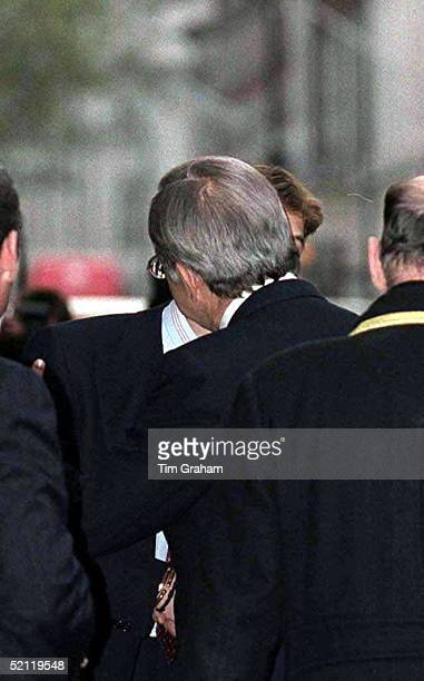 Prince William And King Constantine Say Goodbye With A Continentalstyle Kiss After A Reception At Claridges Hotel In London For The Christening Of...
