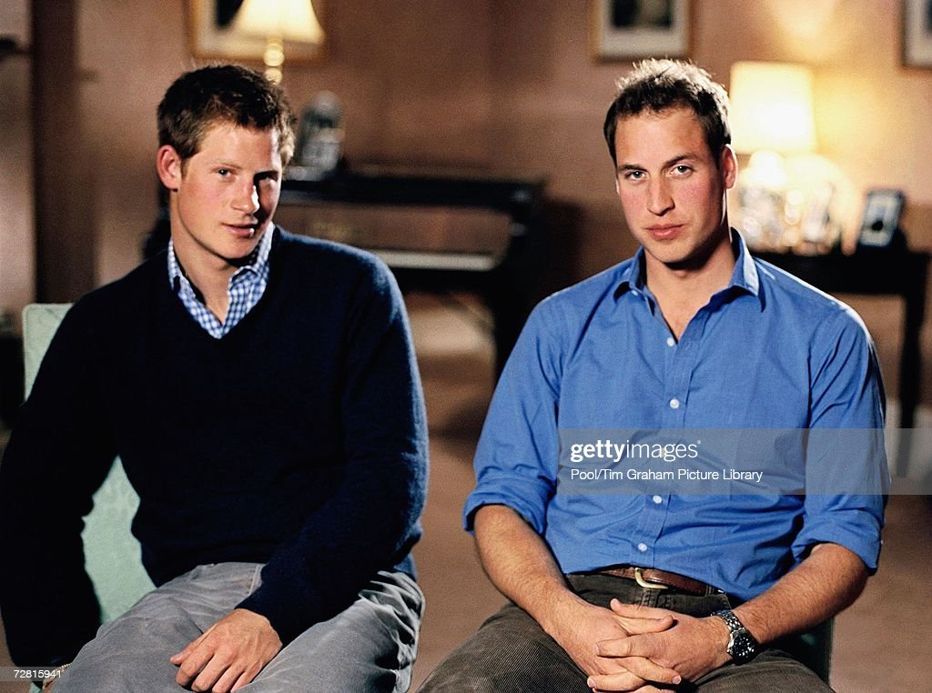 Prince William and Prince Harry announce a pop concert and memorial service is to be held to mark the 10th anniversary of the death of their mother, Princess Diana. December 12, 2006 in London, England.