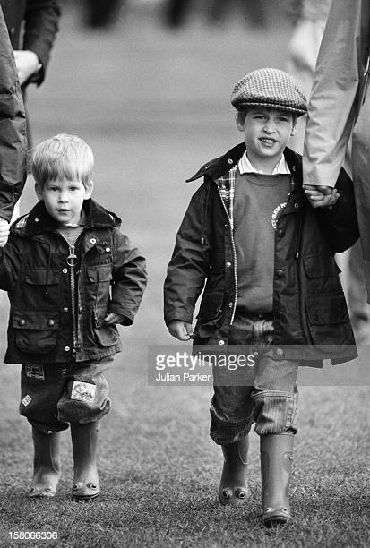 Prince William And Prince Harry At Cirencester Park Polo ClubJune 1987