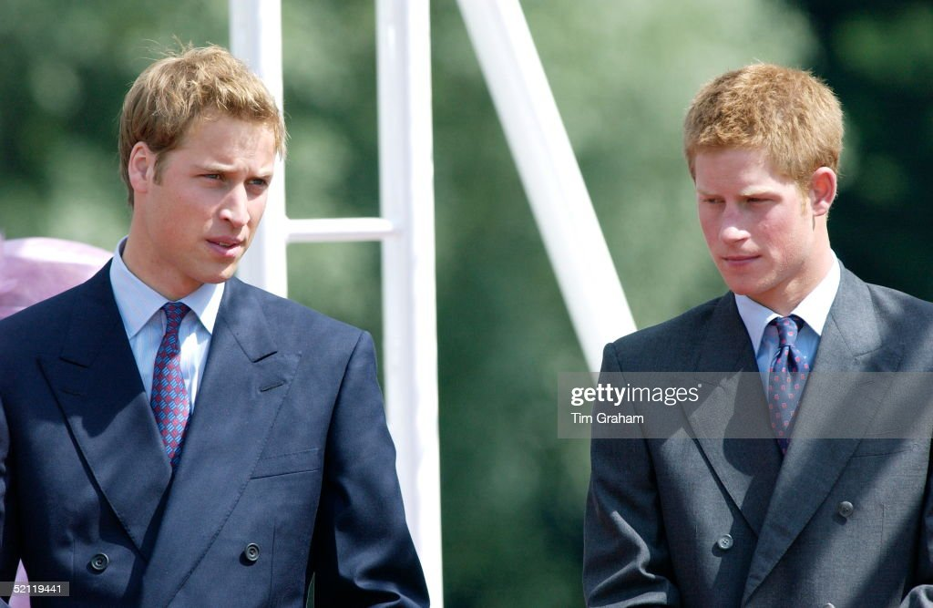 Prince William And Prince Harry At The Opening Of A Fountain Built In Memory Of Diana, Princess Of Wales, In London's Hyde Park.