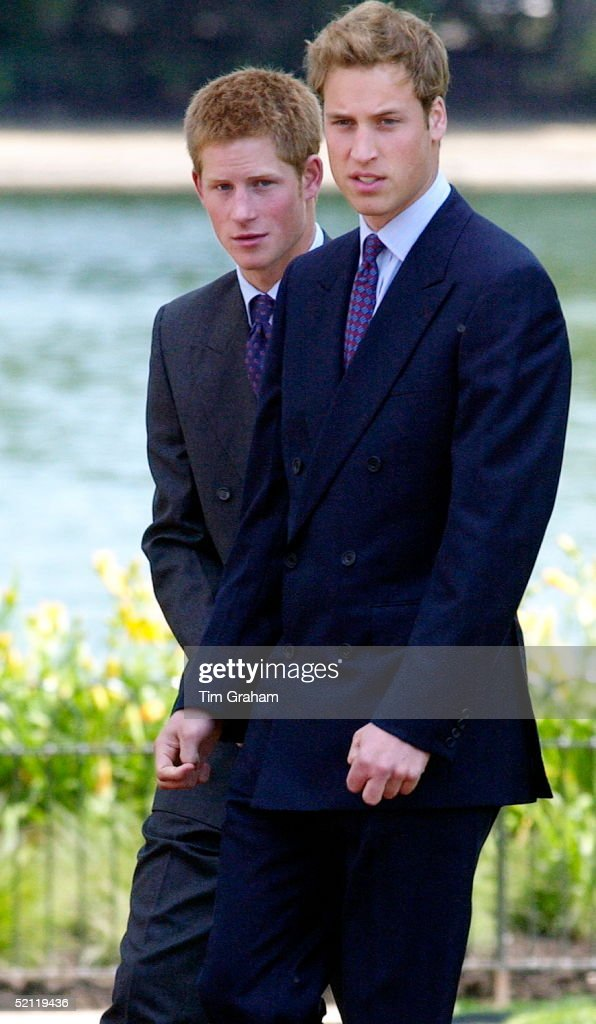Prince William And Prince Harry At The Opening Of The Fountain Built In Memory Of Diana, Princess Of Wales In London's Hyde Park.