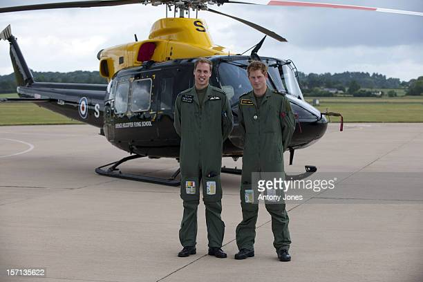 Prince William And Prince Harry At Their Military Helicopter Training Course Based At Raf Shawbury Shrewsbury
