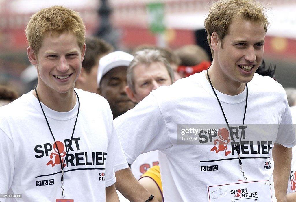 Prince William And <a gi-track='captionPersonalityLinkClicked' href=/galleries/search?phrase=Prince+Harry&family=editorial&specificpeople=178173 ng-click='$event.stopPropagation()'>Prince Harry</a> Join Celebrities And Members Of The Public For A 1 Mile Fun Run Alongside The River Thames To Raise Money For The Charity Sport Relief. Due To A Knee Injury <a gi-track='captionPersonalityLinkClicked' href=/galleries/search?phrase=Prince+Harry&family=editorial&specificpeople=178173 ng-click='$event.stopPropagation()'>Prince Harry</a> Couldn't Participate.
