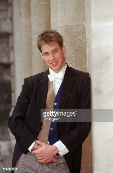 Prince William At Eton College Wearing A Waistcoat Which Is His Privilege As A Member Of The Elite Prefect Society Called 'pop'