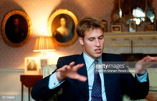 Prince William At The Palace Of Holyrood House In Scotland Being Interviewed Prior To Starting His University Career