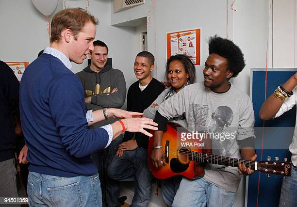 Prince William attends an event to mark Centrepoint's 40th birthday on December 16 2009 in London Centrepoint is a charity that provides housing and...
