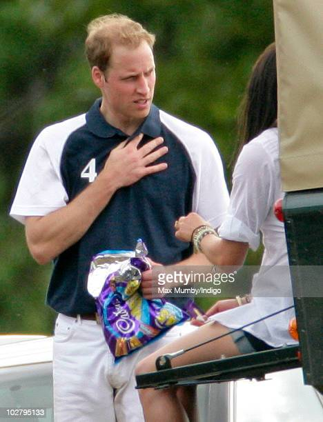 Prince William attends the Chakravarty Cup polo match at the Beaufort Polo Club on July 10 2010 in Tetbury England