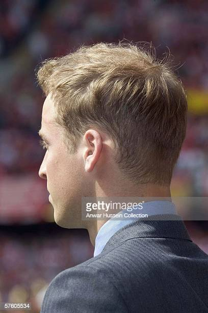 HRH Prince William attends the FA Cup final between Liverpool and West Ham United at the Cardiff Millenium Stadium on May 13 2006 in Cardiff England