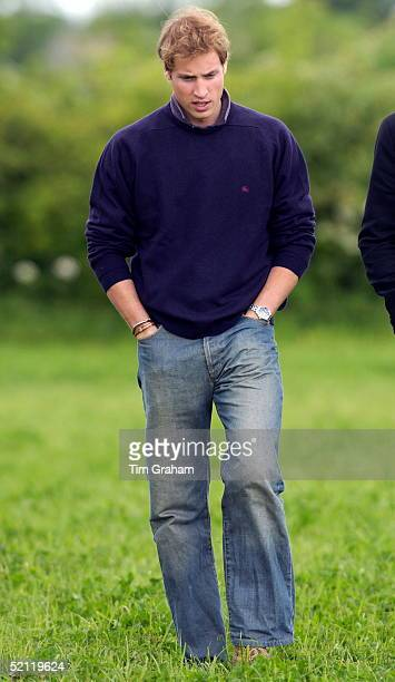 Prince William Casually Dressed In Denim Jeans And A Jumper With His Hands In His Pockets While Visiting Duchy Home Farm Part Of The Duchy Of...