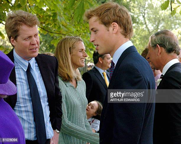 Prince William chats with his uncle Earl Spencer after the unveiling ceremony for the Princess Diana memorial fountain in London's Hyde Park 06 July...