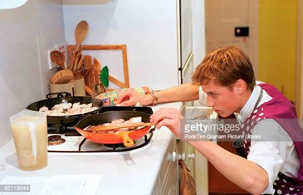 Prince William Cooking Chicken Paella During His Boarding School Days At Eton College