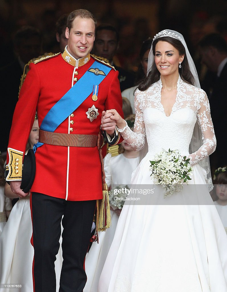 <a gi-track='captionPersonalityLinkClicked' href=/galleries/search?phrase=Prince+William&family=editorial&specificpeople=178205 ng-click='$event.stopPropagation()'>Prince William</a>, Duke of Cambridge and Catherine, Duchess of Cambridge smile following their marriage at Westminster Abbey on April 29, 2011 in London, England. The marriage of the second in line to the British throne was led by the Archbishop of Canterbury and was attended by 1900 guests, including foreign Royal family members and heads of state. Thousands of well-wishers from around the world have also flocked to London to witness the spectacle and pageantry of the Royal Wedding.