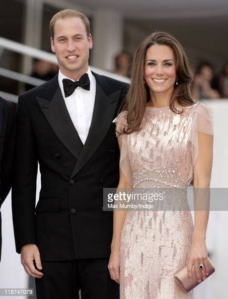 Prince William Duke of Cambridge and Catherine Duchess of Cambridge attend the ARK 10th Anniversary Gala Dinner at perk's Field on June 9 2011 in...