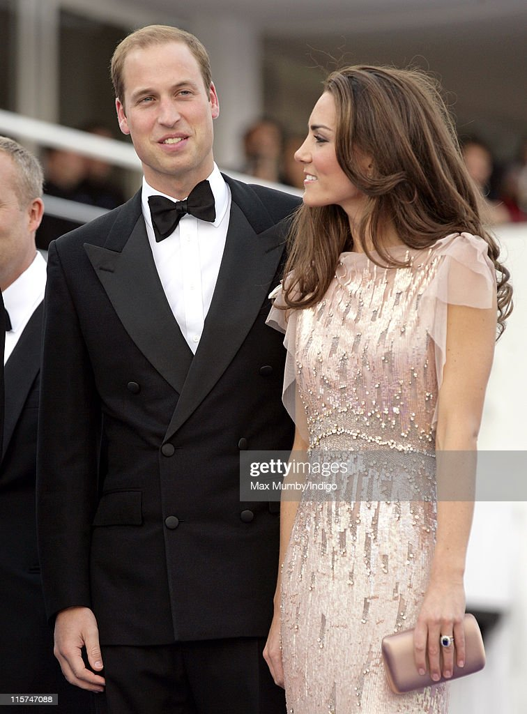 Prince William, Duke of Cambridge and Catherine, Duchess of Cambridge attend the ARK 10th Anniversary Gala Dinner at perk's Field on June 9, 2011 in London, England.